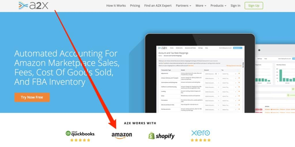 Amazon FBA A2X Accounting Software