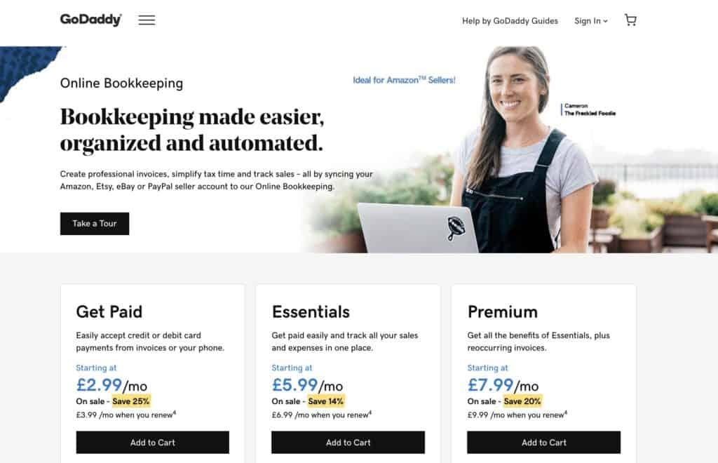 Godaddy Bookkeeping Amazon