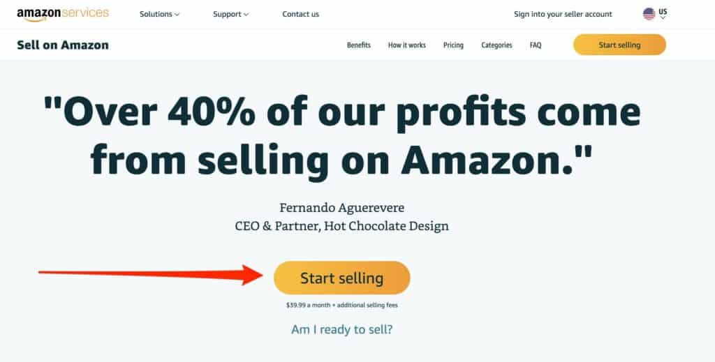 Start Selling product on Amazon