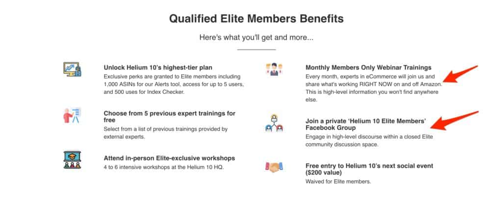 Helium 10 Elite Benefits