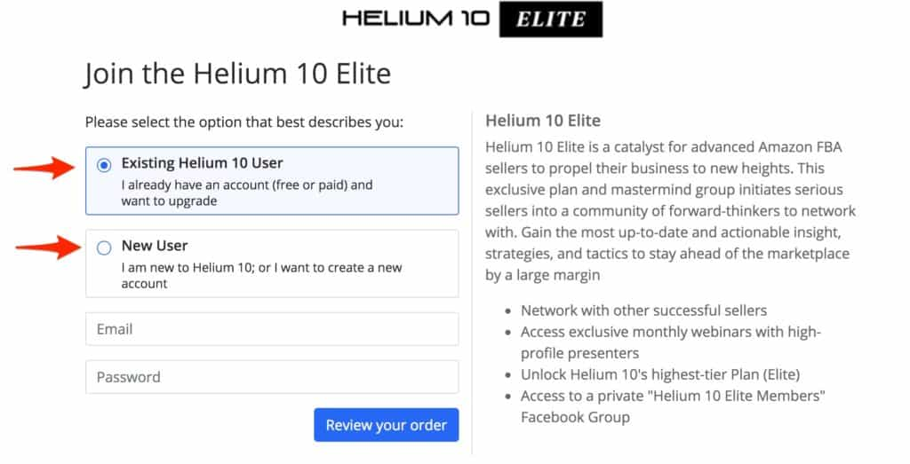 Join the Helium 10 Elite