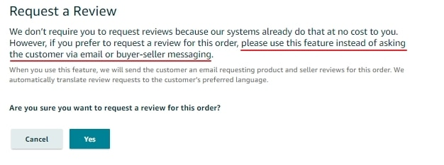 Amazon Request a Review